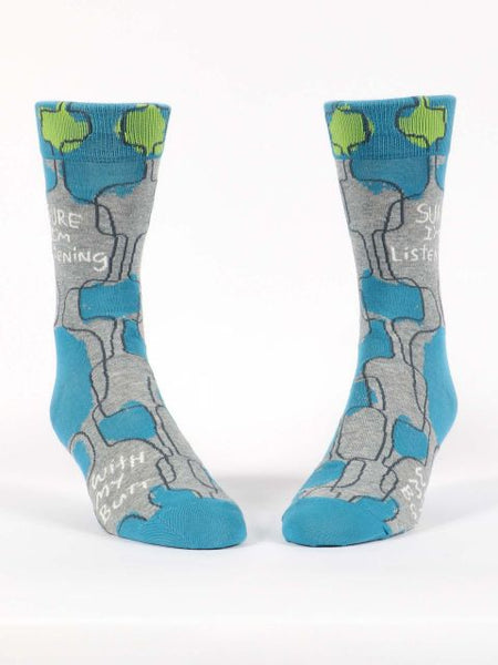 Sure I'm Listening Men's-Crew Socks