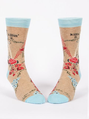 Killin' It Men's-Crew Socks
