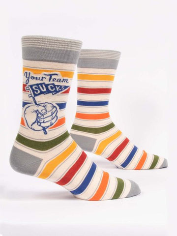 Your Team Sucks Men's-Crew Socks