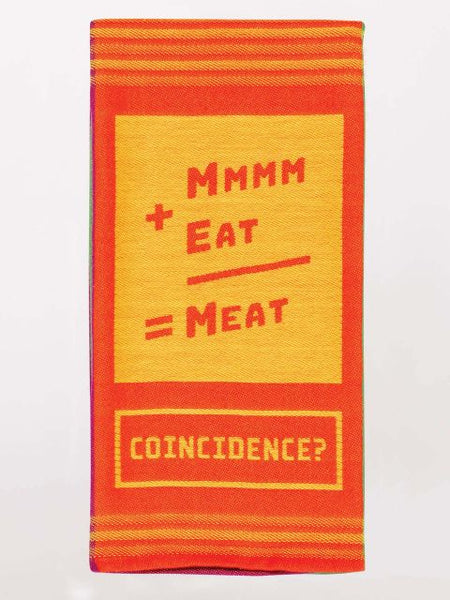 Mmmm+Eat=Meat Woven Dish Towels
