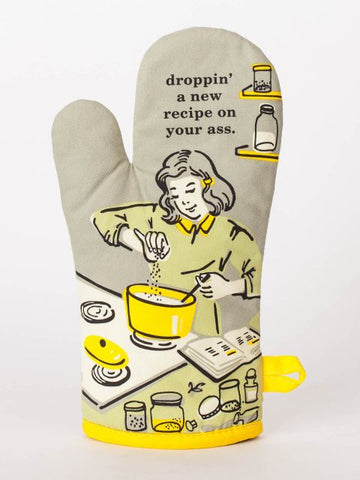 Dropping' A Recipe On Your Ass Oven Mitt