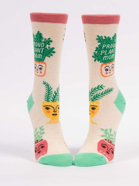 Proud Plant Mom W-Crew Socks