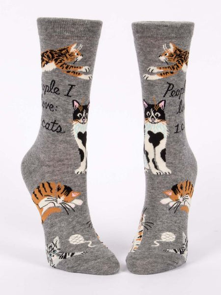 People I Love Cats W-Crew Socks