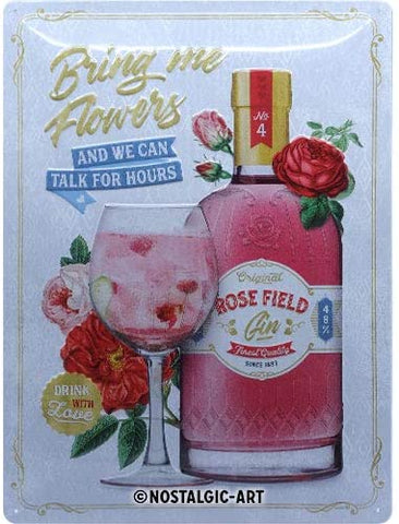 Pink Gin Lovers, Open Bar Sign By Nostalgic Art