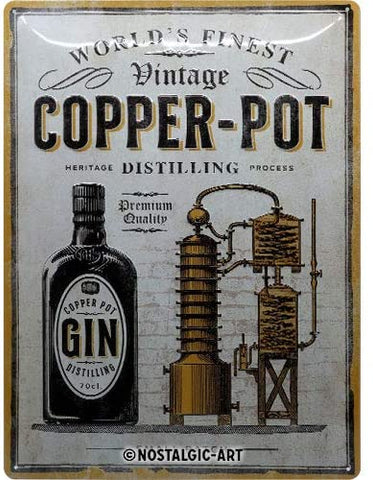 Copper Pot Gin, Open Bar Sign By Nostalgic Art