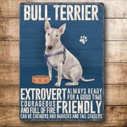 Bull Terrier Metal Sign