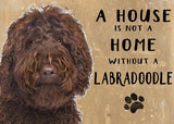 labradoodle metal art sign by backstage originals. cats and dogs