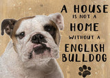 English bulldog sign and art
