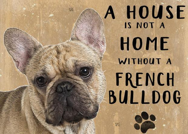 French bulldog metal sign by backstage originals. cats and dogs