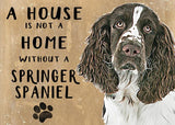 springer spaniel metal art sign by backstage originals. cats and dogs  Edit alt text
