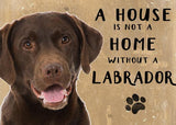 labrador metal art sign by backstage originals. cats and dogs