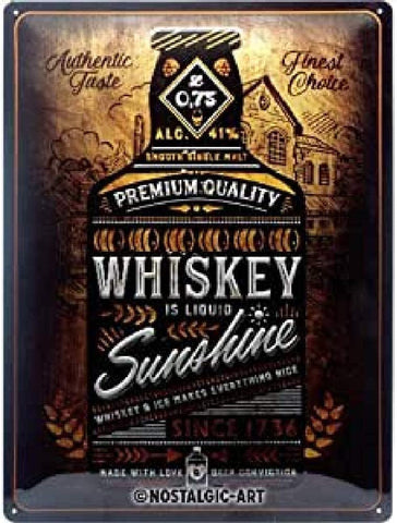 Whiskey Sunshine Open Bar Sign By Nostalgic Art