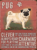 pug dog metal art sign by backstage originals. cats and dogs