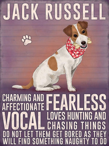 jack Russell metal art sign by backstage originals. cats and dogs