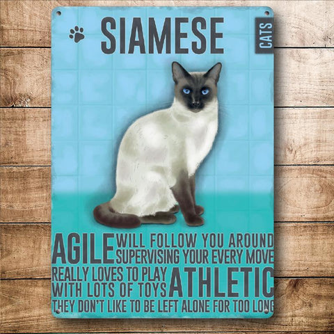 Siamese Cat Metal Sign