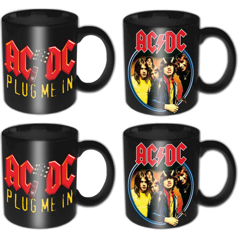 AC/DC Devil Angus & Plug Me In Mug Set
