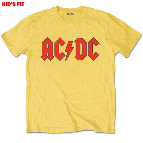 Kids AC/DC T-Shirt - Logo - Yellow