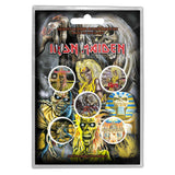 Iron Maiden Button Badge Pack - The Faces of Eddie