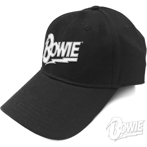 David Bowie Unisex Baseball Cap: White Flash Logo