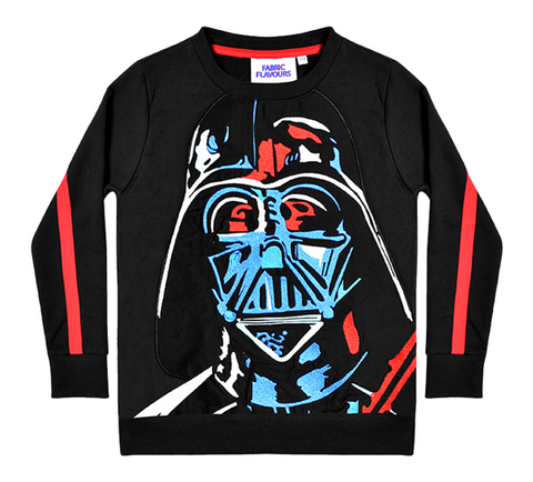Star Wars Darth Vader Applique Fabric Flavours Sweatshirt