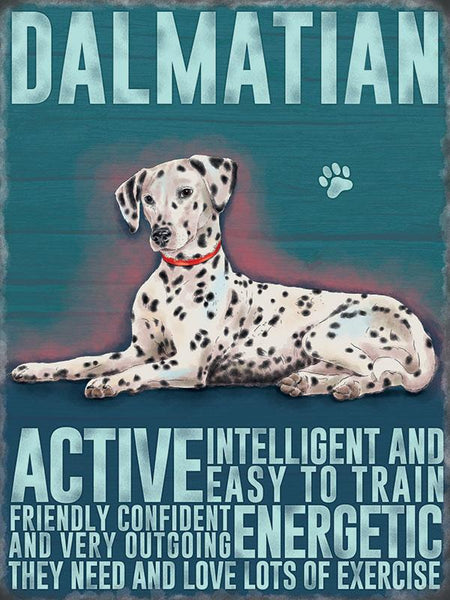 Dalmatian dog metal art and sign