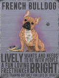 French bulldog metal sign and art. cats and dogs