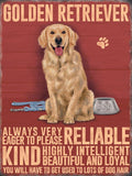 golden retriever dog metal sign and art. Cats and dogs