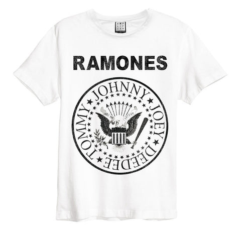 Backstage Originals Ramones Logo Amplified Men's White T-shirt