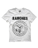 Ramones Logo Amplified Men's White T-shirt