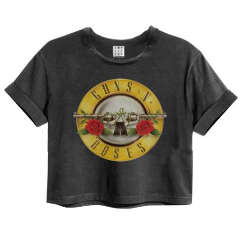 Guns N' Roses Drum Logo Amplified Crop Top