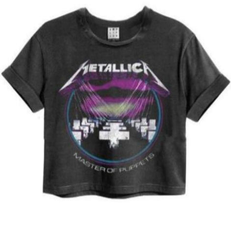 Metallica Master Of Puppets Amplified Crop Top