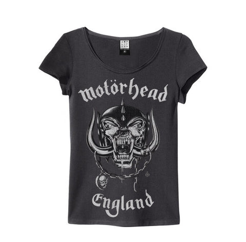 Motorhead England Amplified charcoal Women's T-shirt