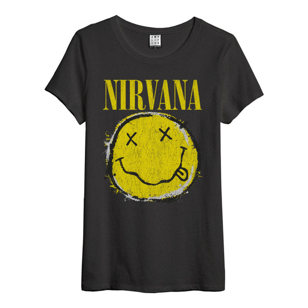 Nirvana Women's T Shirt Worn Out Smiley