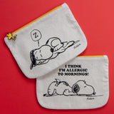 SNOOPY & ALLERGIC TO MORNINGS POUCH