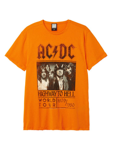 AC/DC Highway To Hell Poster Orange Crunch Men's T-Shirt