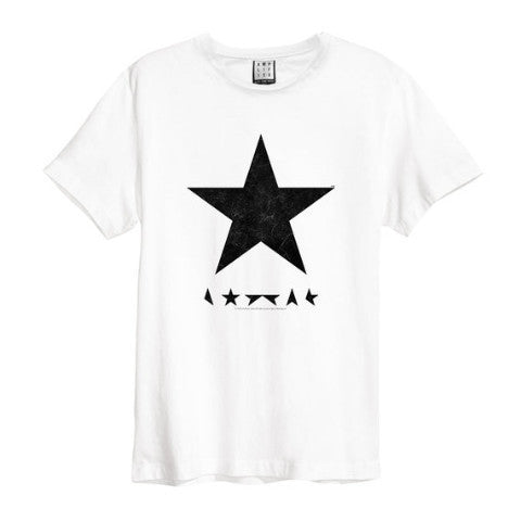 David Bowie Black Star Amplified Men's White T-shirt
