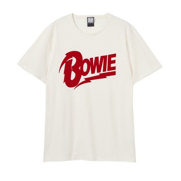 David Bowie Flock Bowie Logo Amplified Men's T-shirt