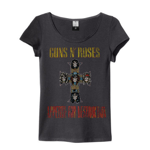 Guns 'n' Roses Appetite For Destruction Amplified charcoal Women's T-shirt