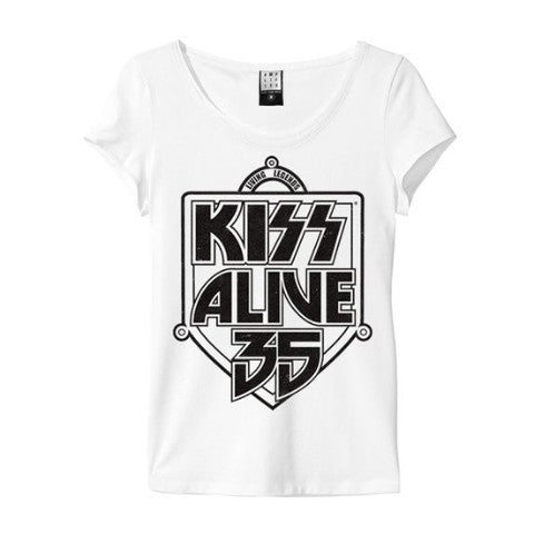 ALIVE 35 KISS WOMEN'S T-SHIRT