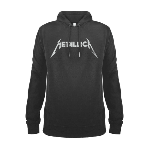Metallica and Justice for All Amplified charcoal Men's T-shirt American heavy metal band Metallica formed in Los Angeles in 1981 when James Hetfield responded to an advert posted in a newspaper by Lars Ulrich. Their 3rd album, Master of Puppets, has been hailed as one of the most influential and heaviest thrash metal a… Metallica Logo Hoodie