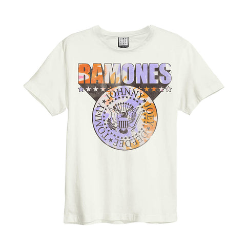Ramones Tie Dye Shield Men's White T-shirt