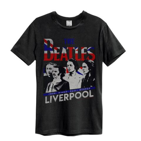 Beatles Liverpool Amplified Charcoal Men's T-shirt