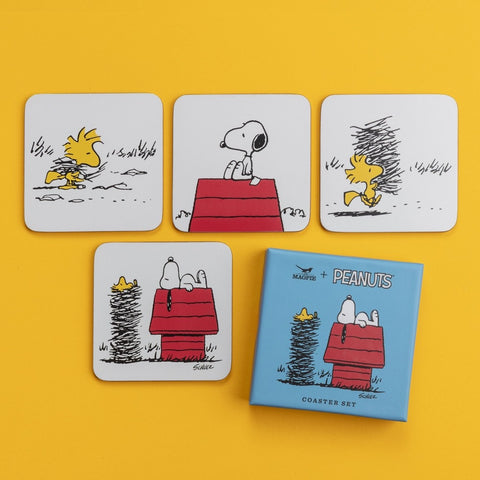 SNOOPY PEANUTS COASTER SET