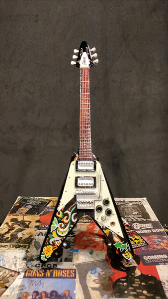 Jimi Hendrix Gibson Flying V Miniature Guitar