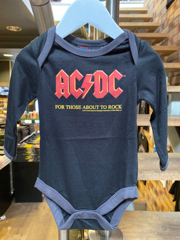 Men/'s Charcoal T-Shirt Amplified AC//DC Let There Be Rock