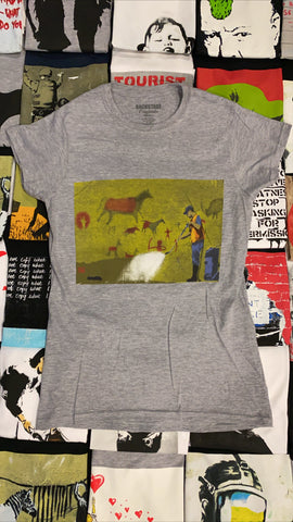 Banksy Cave Painting Women's T-shirt