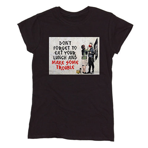Banksy Make Trouble Women's T-shirt