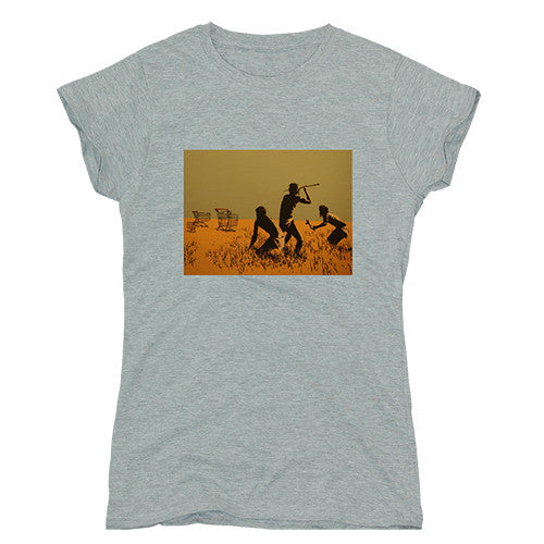banksy trolley hunters ladies t-shirt from backstage originals