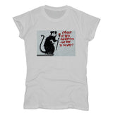Banksy Out of Bed Women's T-shirt