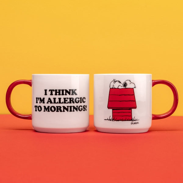 SNOOPY ALLERGIC TO MORNINGS MUG